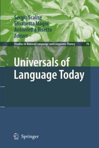 Universals of Language Today (Studies in Natural Language and Linguistic Theory): Springer