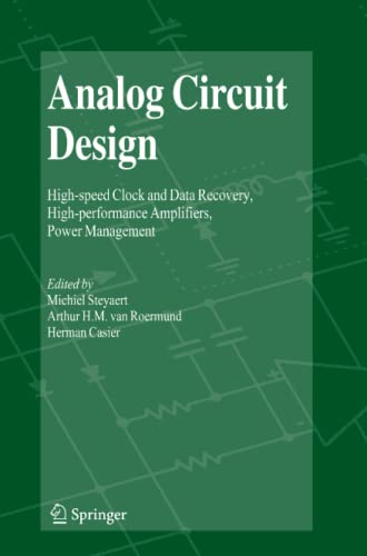 9789048180325: Analog Circuit Design: High-speed Clock and Data Recovery, High-performance Amplifiers, Power Management
