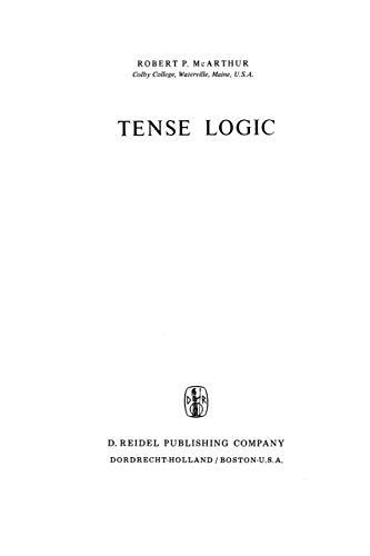 Tense Logic: R. P. McArthur