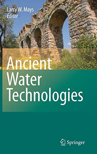 Ancient Water Technologies (Hardback)