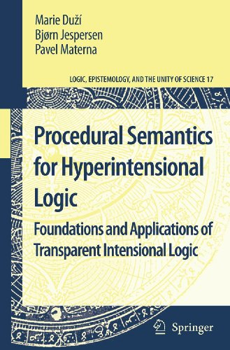 Procedural Semantics for Hyperintensional Logic: Marie Duzí