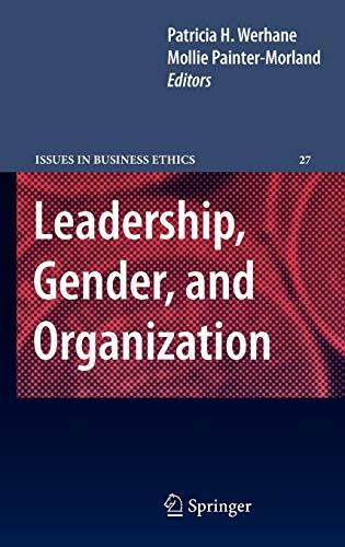 Leadership, Gender, and Organization (Hardback)