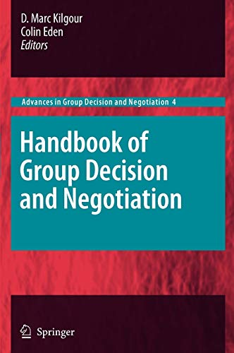 9789048190966: Handbook of Group Decision and Negotiation (Advances in Group Decision and Negotiation)
