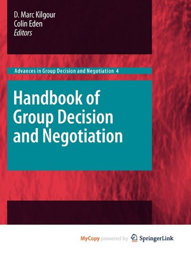 9789048190980: Handbook of Group Decision and Negotiation