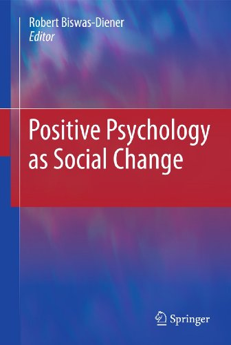9789048199372: Positive Psychology as Social Change