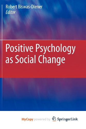 9789048199396: Positive Psychology as Social Change