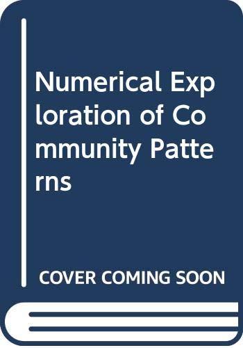 9789051030372: Numerical Exploration of Community Patterns
