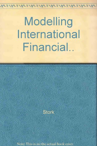 Modelling international financial markets. An empirical study.: Stork, Philip A.