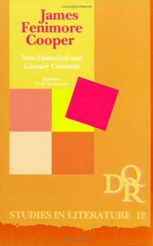 James Fenimore Cooper: New Historical and Literary Contexts (Hardback)