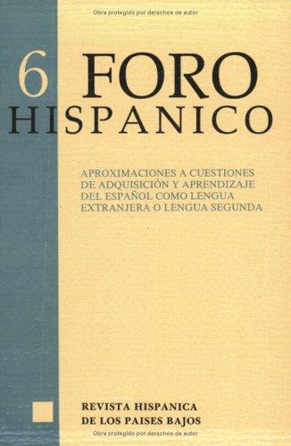 Aproximaciones a Cuestiones de Adquisicion y Aprendizaje del Espanol Como Lengua Extranjera o ...