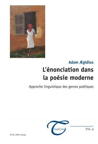 9789052018157 Lénonciation Dans La Poésie Moderne