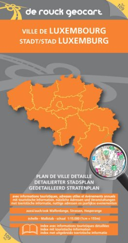 9789052081755: Luxembourg City Map (Ville De Luxembourg)