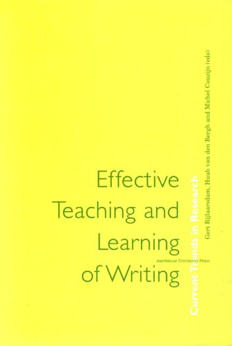 9789053561980: Effective Teaching and Learning of Writing: Current Trends in Research (Amsterdam University Press - Studies in Writing)