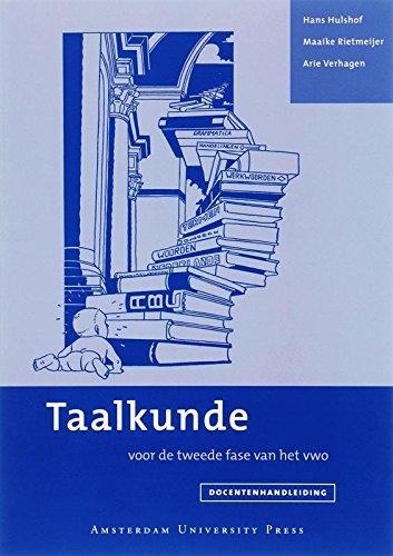 9789053568965: Docentenhandleiding taalkunde: Voor de tweede fase van het vwo (Dutch Edition)