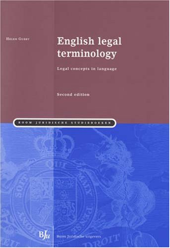 9789054549314: English Legal Terminology: Legal Concepts in Language (Second Edition) (Boom Juridische Studieboeken)