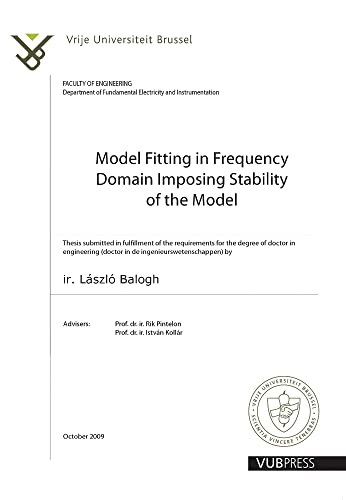 Model Fitting in Frequency Domain Imposing Stability: Balogh, Laszlo