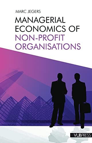 9789054879091: Managerial Economics of Non-profit Organisations
