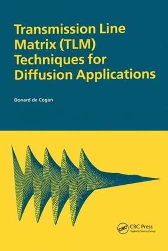 9789056991296: Transmission Line Matrix (TLM) Techniques for Diffusion Applications