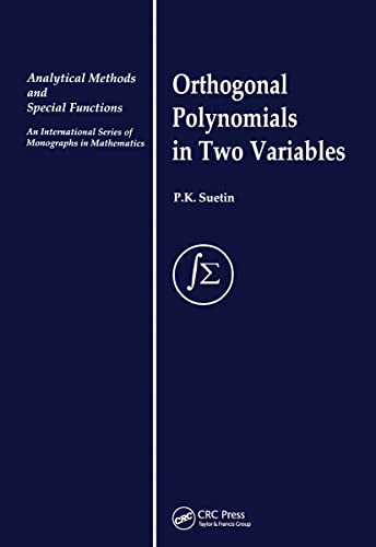 9789056991678: Orthogonal Polynomials in Two Variables (Analytical Methods and Special Functions)