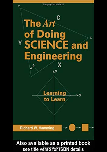 9789056995010: Art of Doing Science and Engineering: Learning to Learn