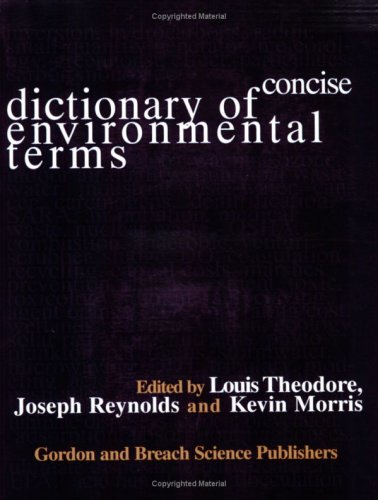 Concise Dictionary of Environmental Terms 9789056996000 The Concise Dictionary of Environmental Terms has been written for academic use in grade schools, high schools, colleges, and universities. In addition, it has not only been written for technical individuals who work in environmental or in environmentally related fields, but also for non technical (in an environmental sense) individuals such as office workers, secretaries, doctors, lawyers, etc., and, last but not least, the consumer. In effect, it is a dictionary that may be used whenever and wherever information about environmental words and/or terms is likely to be sought. One-sentence definitions for approximately 6,000 words or terms are provided in non technical jargon. Every attempt has been made to present as much information as possible in this one sentence without complicating its meaning. The words and terms are drawn from the following environmental areas: air; water; solid waste; risk; meteorology; regulations; toxicology; engineering; inorganic chemicals; multimedia concerns; sustainable development; ISO 14000; ecology; and health, safety, and accident management. The appendix section, consisting of acronyms, units/conversion factors, and references, rounds out the scope of this work. In addition to the references provided, the reader will find a computer diskette attached to the back cover of the dictionary. The diskette contains two program files, a Word Perfect 5.1 file which can be run from the WINDOWS Program Manager, and an ASCII file. Both of these text files contain the entire dictionary of words and enable the reader to quickly find a definition using the search capability of the modern word processor.
