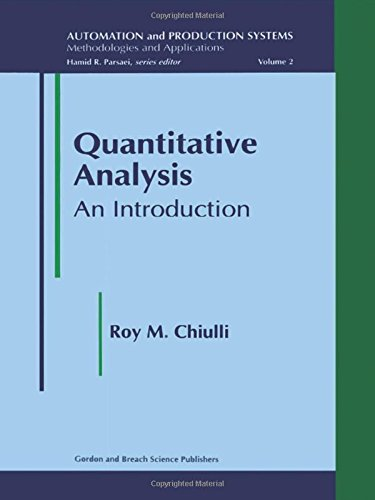 9789056996291: Quantitative Analysis: An Introduction (Automation and Production Systems, Methodologies and Applications, Vol 2)
