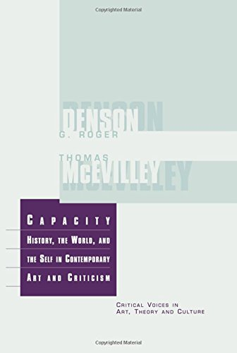 9789057010514: Capacity: The History, the World, and the Self in Contemporary Art and Criticism (Critical Voices in Art, Theory and Culture)