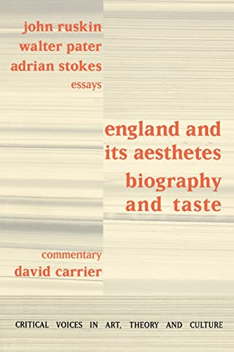 9789057012914: England and its Aesthetes: Biography and Taste (Critical Voices in Art, Theory and Culture)
