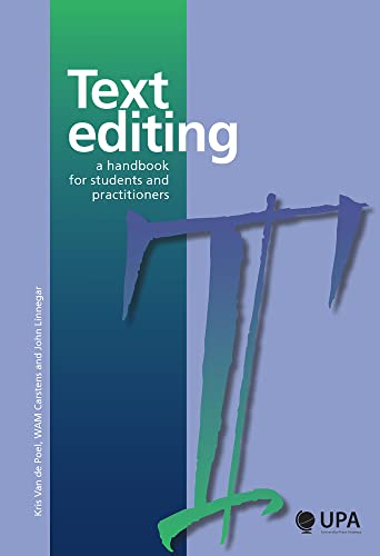 9789057181146: Text Editing: A Handbook for Students and Practitioners