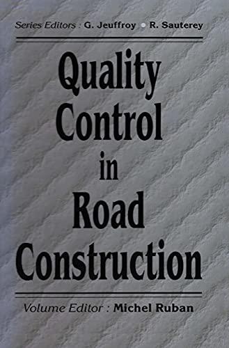 Quality Control in Road Construction: Ruban, Michel