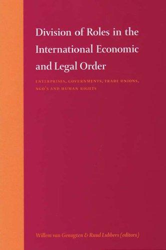 Division of Roles in the International Economic: Sophie van Bijsterveld;