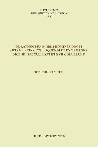 9789058679161: De rationibus quibus homines docti artem Latine colloquendi et ex tempore dicendi saeculis XVI et XVII coluerunt (Supplementa Humanistica Lovaniensia)