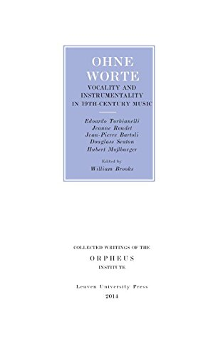9789058679987: Ohne worte : Vocality and Instrumentality in 19th-Century Music