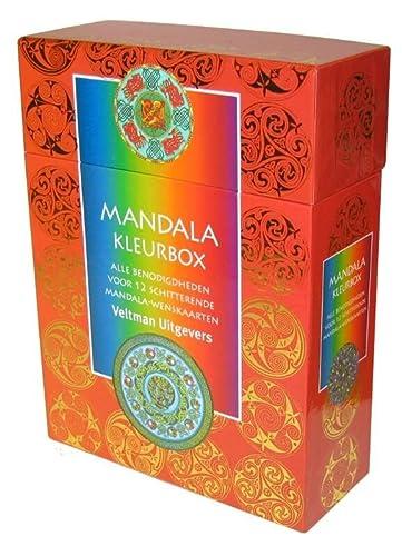 9789059208926: Mandala kleurbox: alle benodigdheden voor 12 schitterende mandalawenskaarten