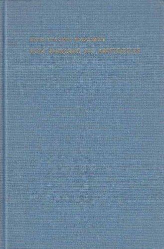 9789060320860: Von Eudoxos zu Aristoteles: Das Fortwirken der Eudoxischen Proportionentheorie in der Aristotelischen Lehre vom Kontinuum (Studien zur Antiken Philosophie)