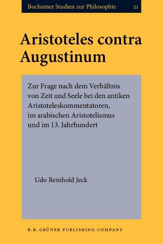 Aristoteles contra Augustinum: Zur Frage nach dem: Jeck, Prof. Dr.