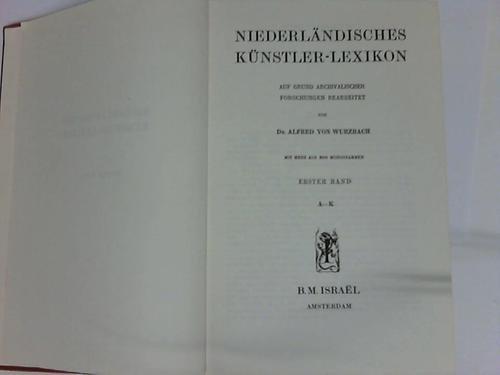 9789060780299: Niederlandisches Kunstler-Lexicon, 2 Vols.; Künstler, Kuenstler, Niederländischen, Niederlaendischen