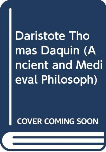 9789061863748: D'Aristote a Thomas d'Aquin: Antecedents de la pensee moderne : recueil d'articles (Ancient and medieval philosophy) (French Edition)