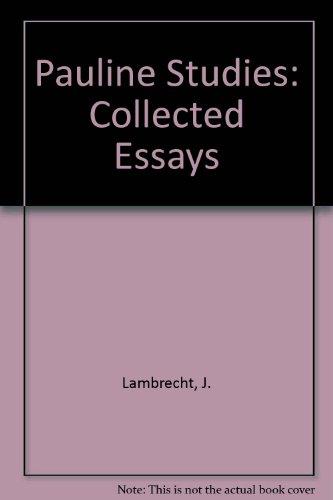 9789061866237: Pauline Studies: Collected Essays (Bibliotheca Ephemeridum theologicarum Lovaniensium)