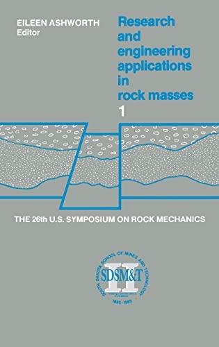 9789061916017: Rock Mech-26th Us-Rsch & Eng Applns-V1