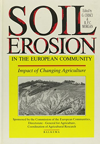 9789061916574: Soil Erosion in the European Community: Impact of changing agriculture - Proceedings of a seminar on land degradation due to hydrological phenomena in hilly areas: Impact of change