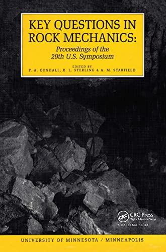 9789061918356: Key Questions In Rock Mechanics: Proceedings of the 29th U.S. Symposium