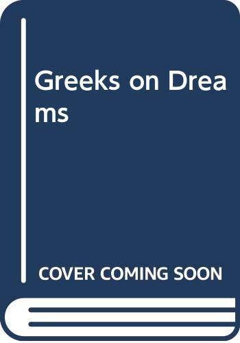 9789061940630: Greeks on Dreams