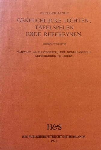 9789061941415: Veelderhande, Geneughlijcke Dichten, Tafelspelen Ende Refereynen (Utrechtse Herdrukken) (Dutch Edition)