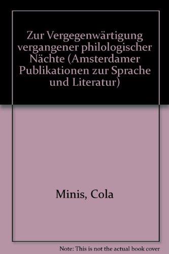 Zur Vergegenwärtigung vergangener philologischer Nächte.: Minis, Cola
