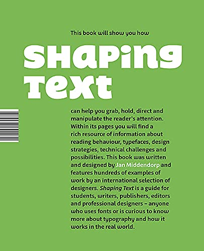 9789063692230: Shaping Text: Type, Typography and the Reader