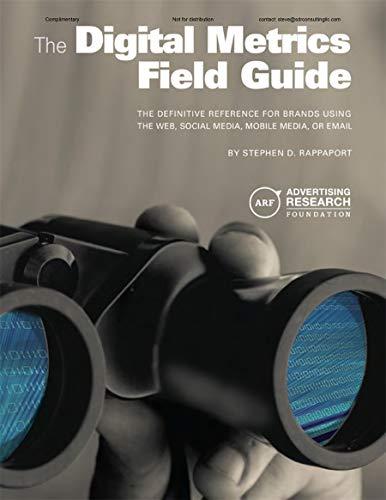 Digital Metrics Field Guide (Paperback): Stephen D. Rappaport