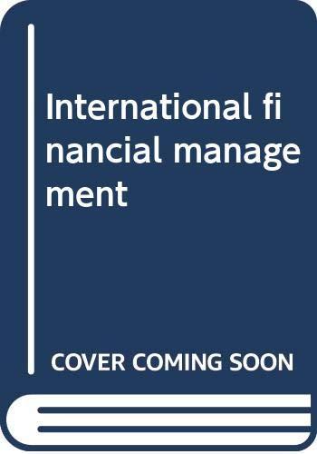 International financial management: Bergendahl