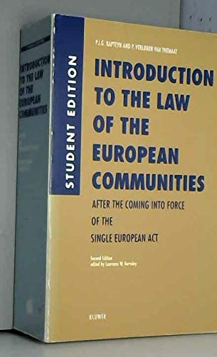Introduction to the Law of the European: Kapteyn, P.J.G. &