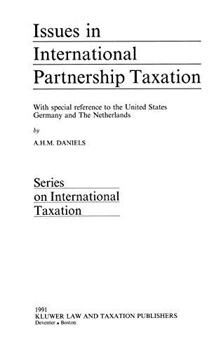 9789065445773: Issues in International Partnership Taxation (Series on international taxation)